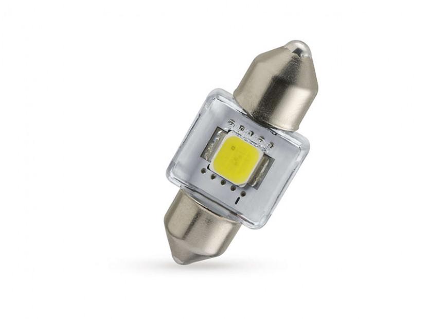 LED лампа Philips тип C5W X-treme Vision 30mm, студено бяла, 6000K, 12V, 1W, SV8.5, 1 брой 2