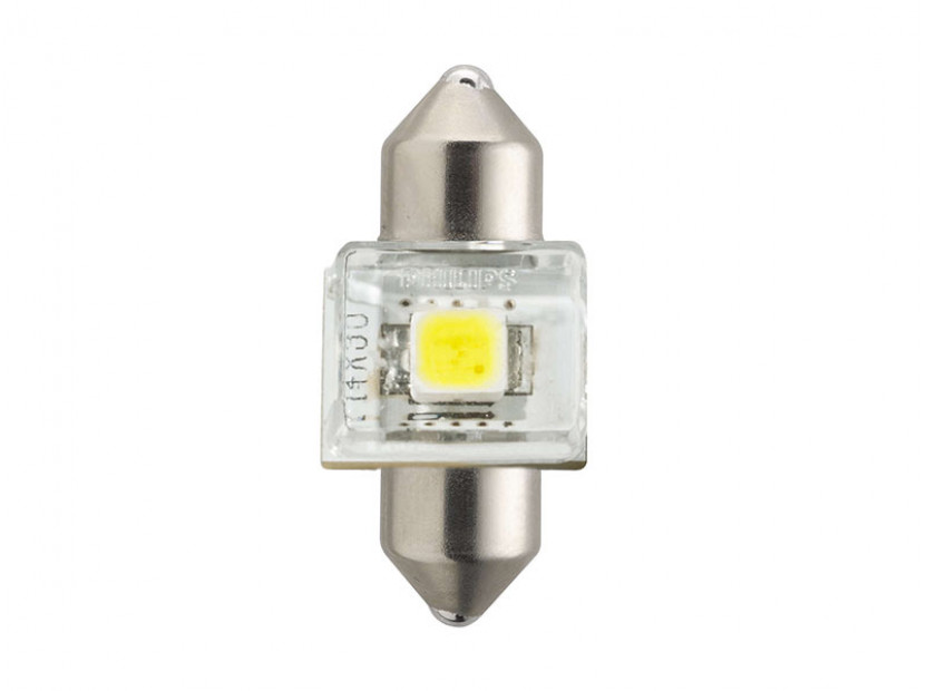 LED лампа Philips тип C5W X-treme Vision 30mm, студено бяла, 6000K, 12V, 1W, SV8.5, 1 брой 3