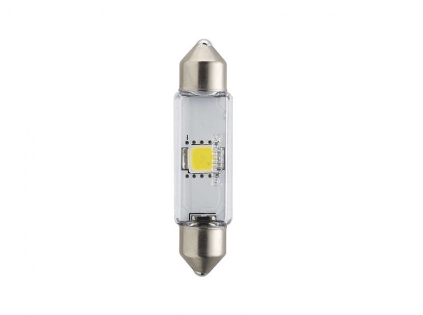 LED лампа Philips тип C5W X-treme Vision 43mm, студено бяла, 6000K, 12V, 1W, SV8.5, 1 брой 3