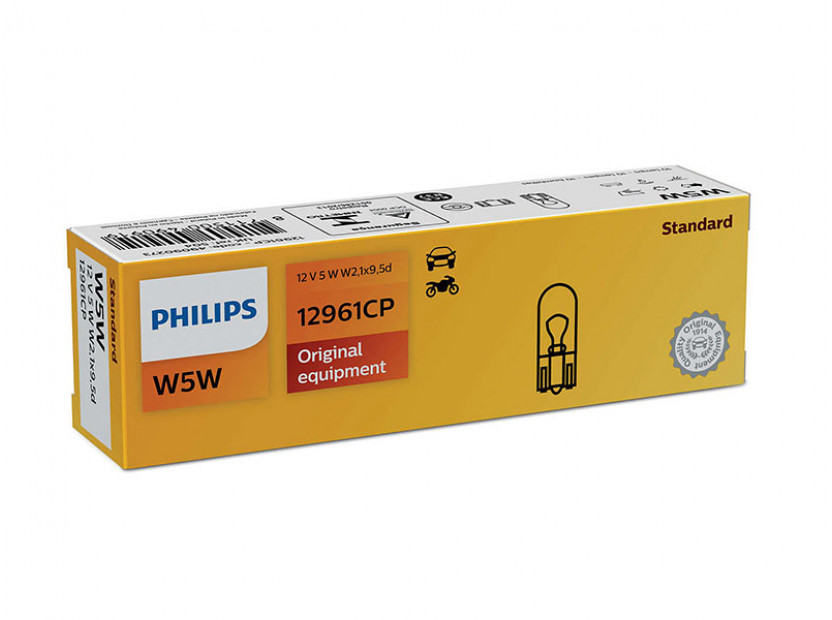 Халогенна крушка Philips W5W Standard 12V, 5W, W2.1x9.5D, 1 брой