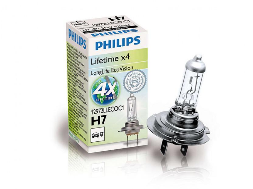 Халогенна крушка Philips H7 LongLife EcoVision12V, 55W, PX26D, 1 брой