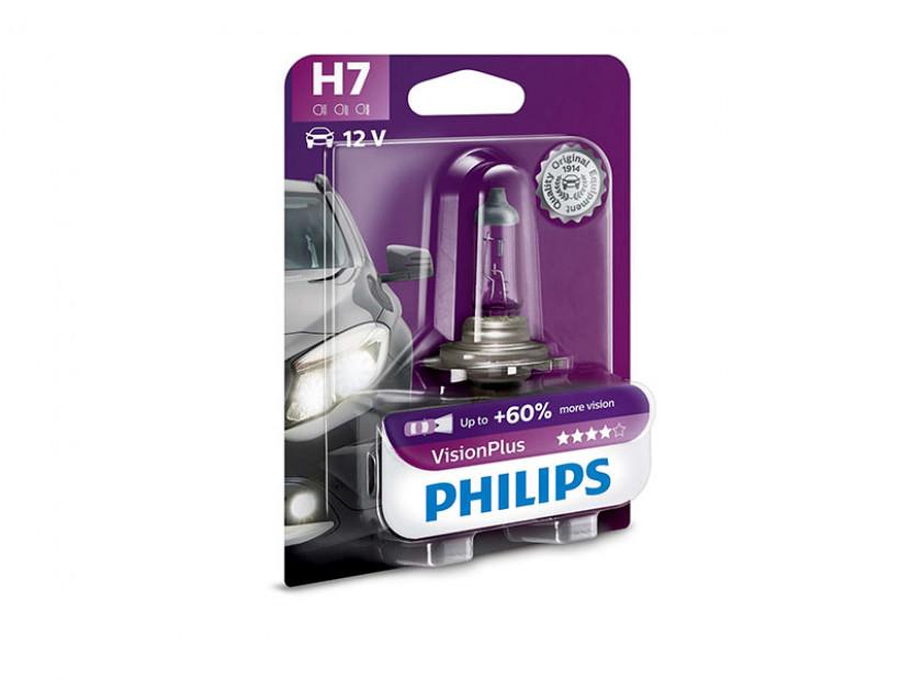 Халогенна крушка Philips H7 Vision Plus12V, 55W, PX26D, 1 брой