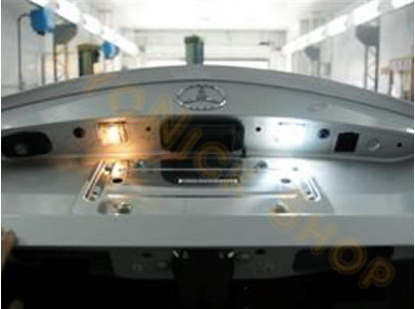 Комплект LED плафони за регистрационен номер за Mercedes C класа W203 комби, E класа W211 седан/комби, CLS C219, SLK R171, ляв и десен 8