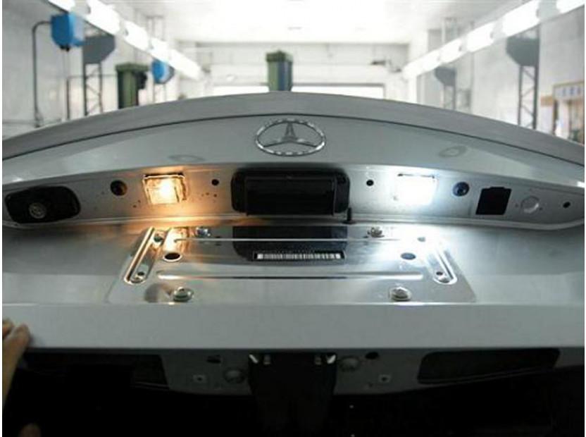 Комплект LED плафони за регистрационен номер за Mercedes C класа W204, E класа W212/C207, CL C216, S класа W221, ляв и десен 9