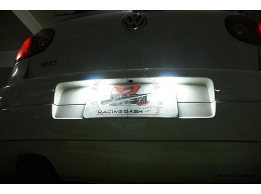Комлект LED плафони за регистрационен номер за Volkswagen Golf 4,5,6,7,Lupo,New Beetle,Polo,Passat,Phaeton,Scirocco,Amamrok, Seat Altea,Exeo,Ibiza,Leon,Toledo, Skoda Superb, Porsche Boxster,Cayman,Carrera,911 13