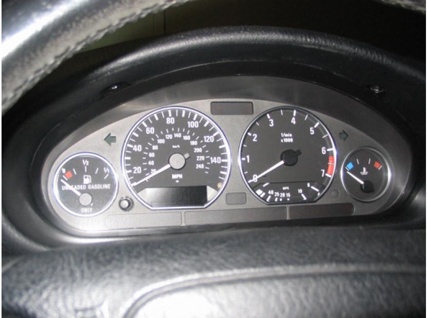 Рингове за табло autopro за BMW серия 3 E36 всички версии 1990-1999, цвят хром 5