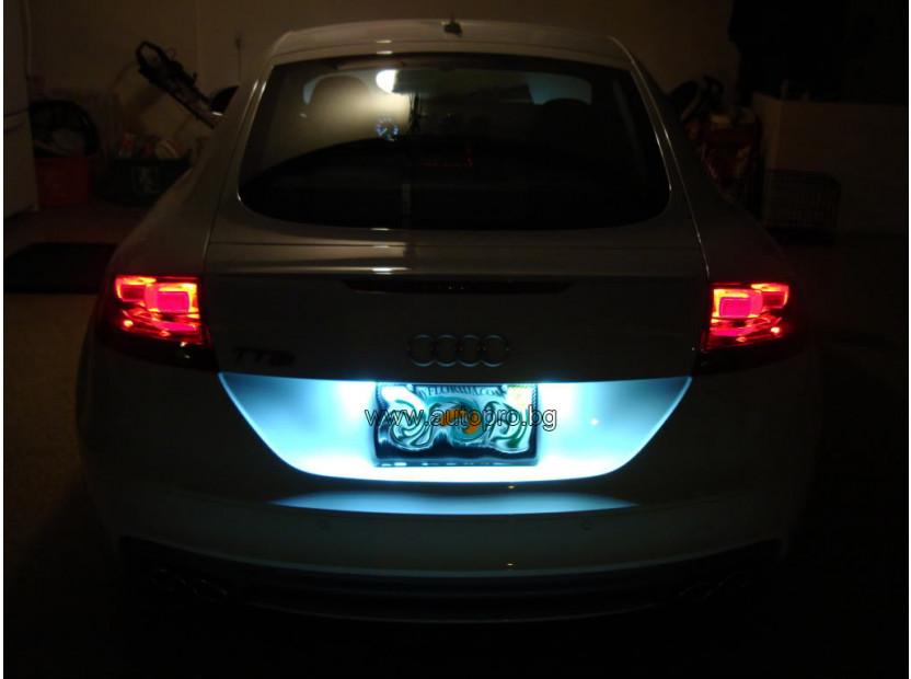 Комплект LED плафони за регистрационен номер за Audi A3,A4,A5,A6,Q7, ляв и десен 6
