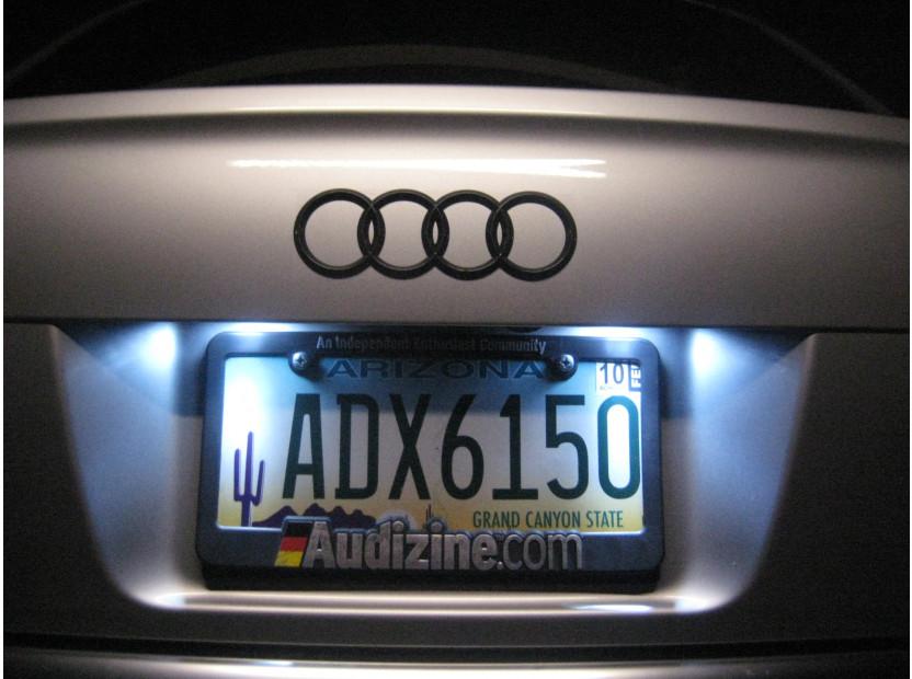 Комплект LED плафони за регистрационен номер за Audi A3,A4,A5,A6,Q7, ляв и десен 7