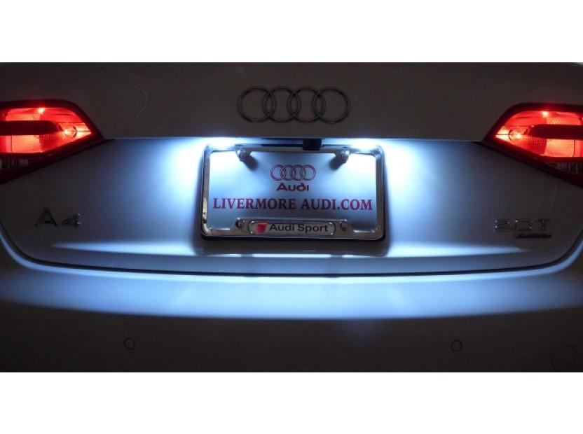 Комплект LED плафони за регистрационен номер за Audi A3,A4,A5,A6,Q7, ляв и десен 9