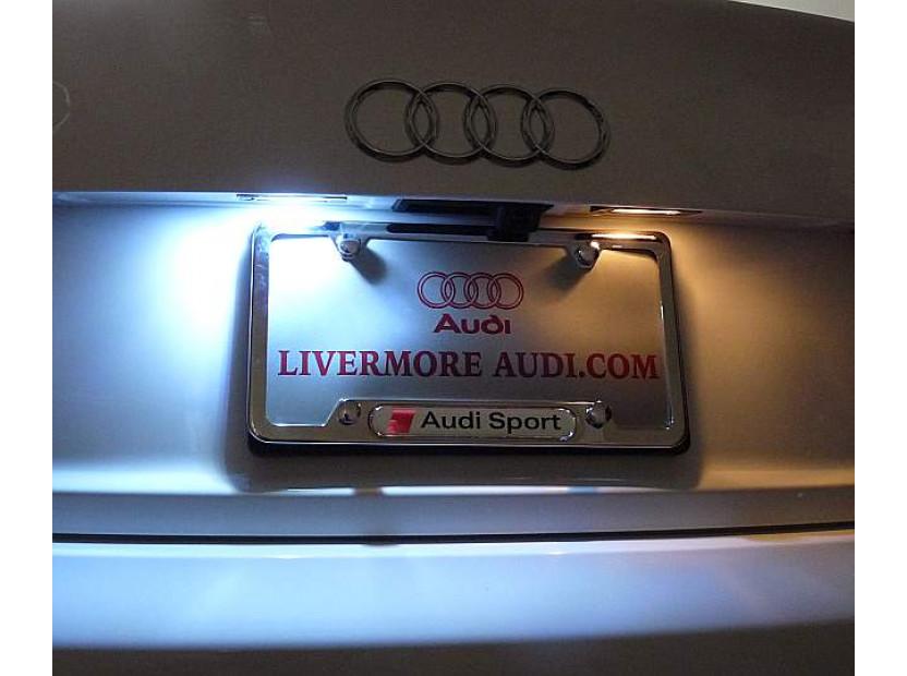 Комплект LED плафони за регистрационен номер за Audi A3,A4,A5,A6,Q7, ляв и десен 11
