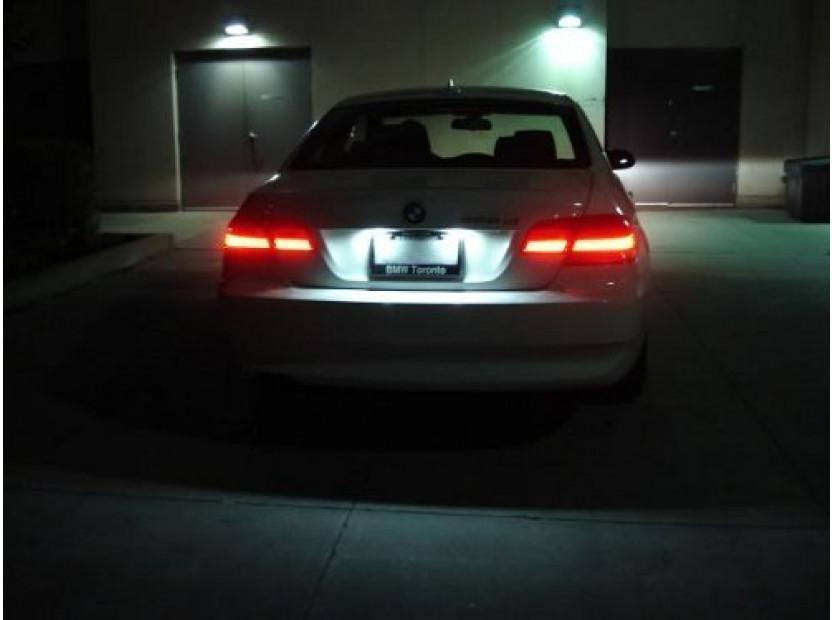Комплект LED плафони за регистрационен номер за BMW серия 3 E36 седан/купе/комби/компакт 1990-1999, ляв и десен 9