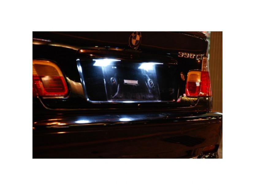 Комплект LED плафони за регистрационен номер за BMW серия 3 E36 седан/купе/комби/компакт 1990-1999, ляв и десен 10