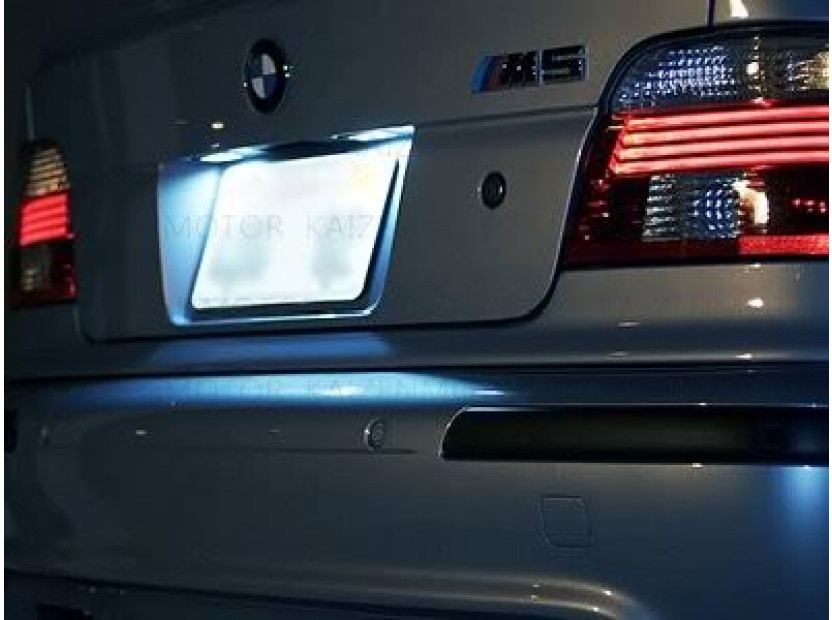 Комплект LED плафони за регистрационен номер за BMW серия 3 E46 седан/комби 1998-2005, ляв и десен 9