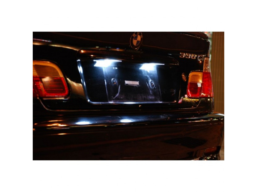 Комплект LED плафони за регистрационен номер за BMW серия 3 E46 седан/комби 1998-2005, ляв и десен 13