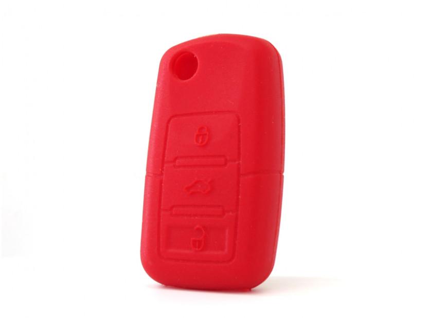 Червен силиконов калъф за ключ за Volkswagen 6