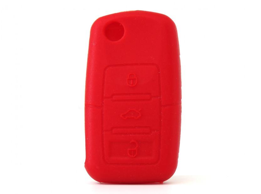 Червен силиконов калъф за ключ за Volkswagen 5