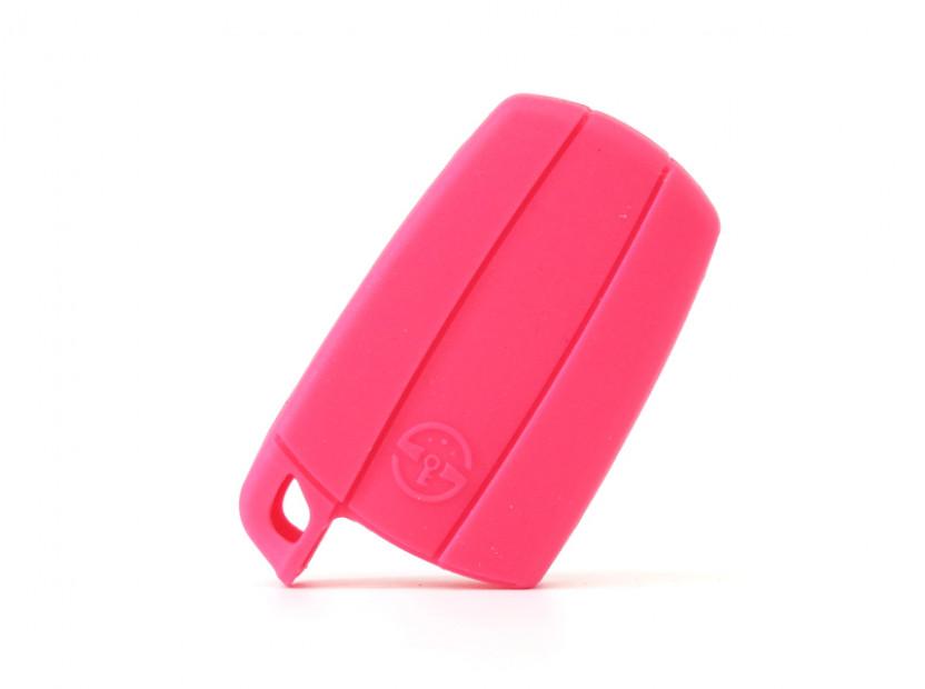 Розов силиконов калъф за ключ за BMW 2