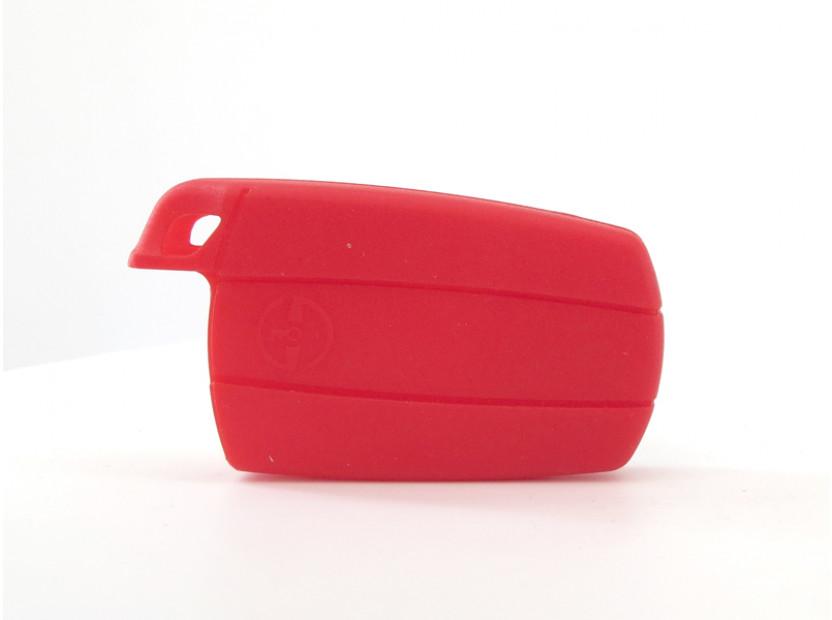Червен силиконов калъф за ключ за BMW 3