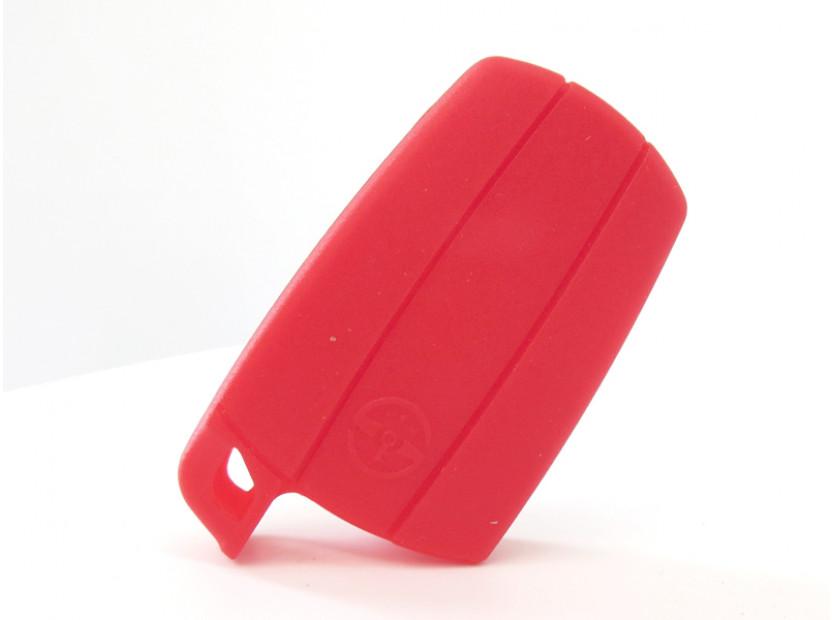 Червен силиконов калъф за ключ за BMW 2