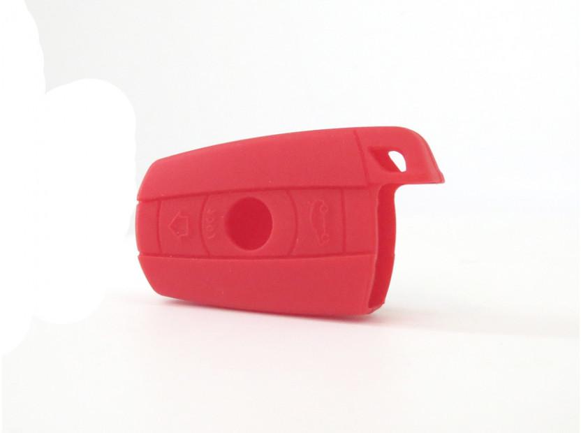 Червен силиконов калъф за ключ за BMW 5