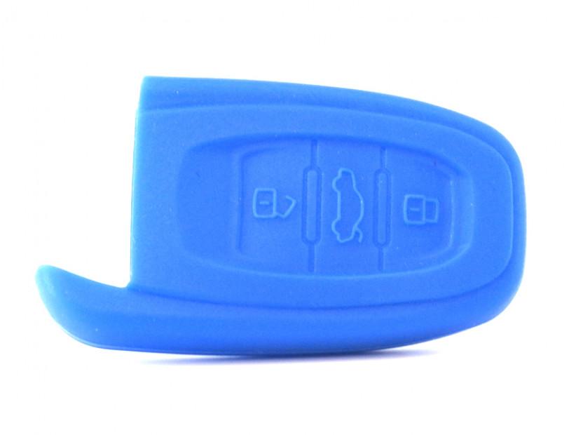 Син силиконов калъф за ключ за Audi 2