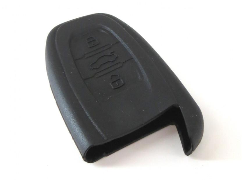 Черен силиконов калъф за ключ за Audi 4