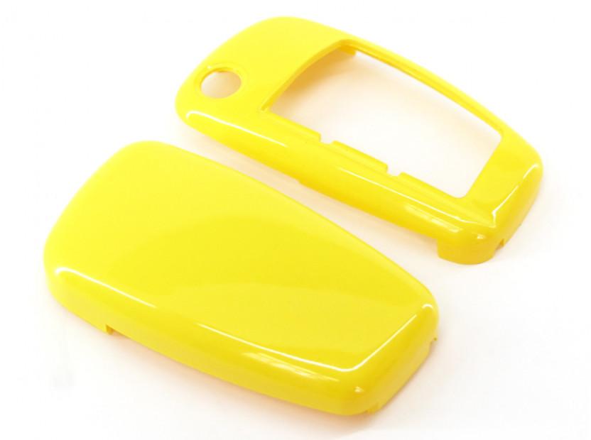 Жълт пластмасов калъф за ключ за Audi 6
