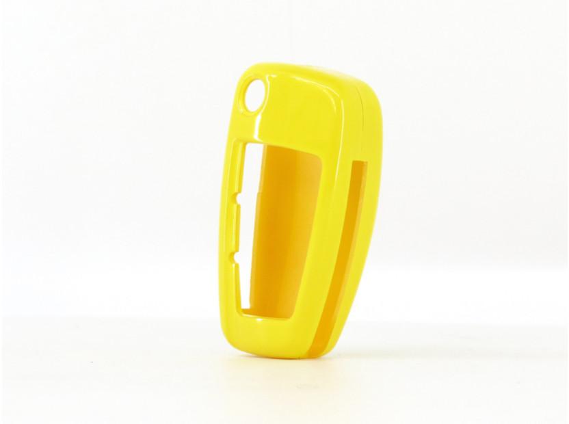 Жълт пластмасов калъф за ключ за Audi 3
