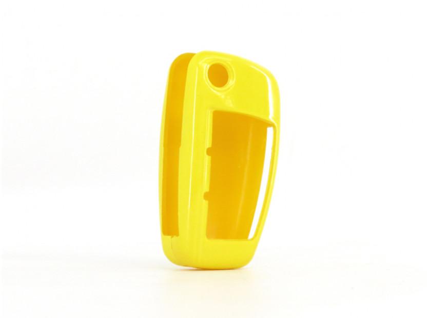 Жълт пластмасов калъф за ключ за Audi 2