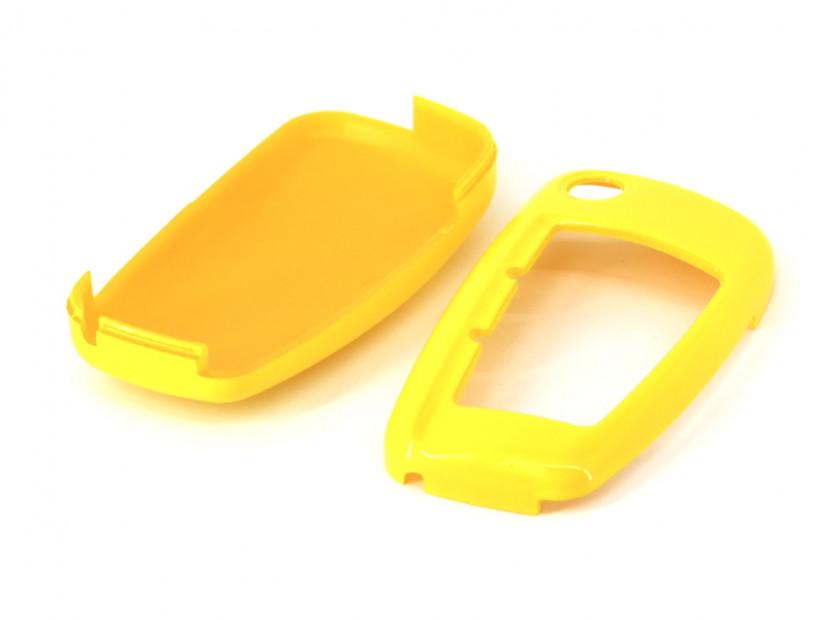 Жълт пластмасов калъф за ключ за Audi 4