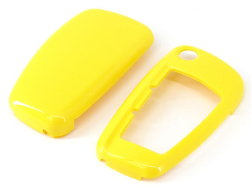 Жълт пластмасов калъф за ключ за Audi 5