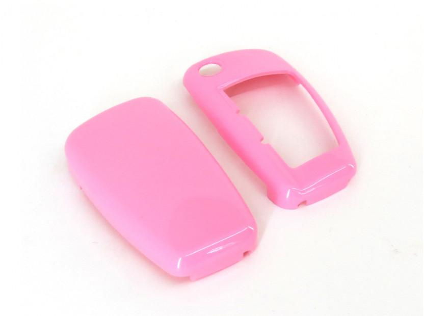 Розов пластмасов калъф за ключ за Audi 2