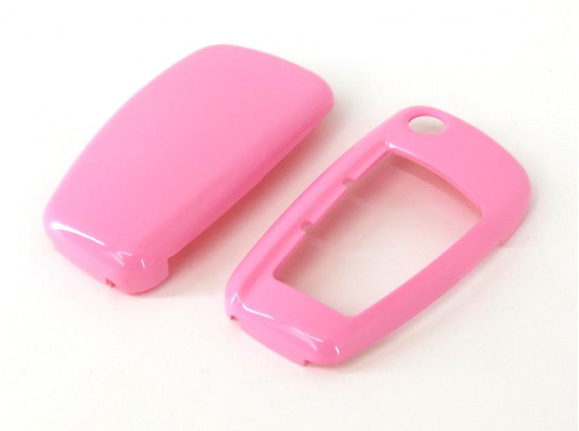 Розов пластмасов калъф за ключ за Audi 4