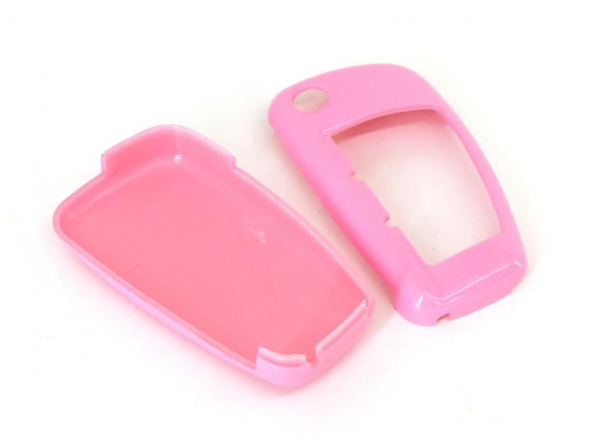 Розов пластмасов калъф за ключ за Audi 5