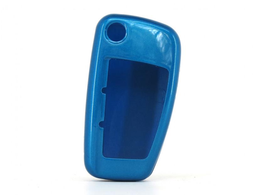 Син пластмасов калъф за ключ за Audi