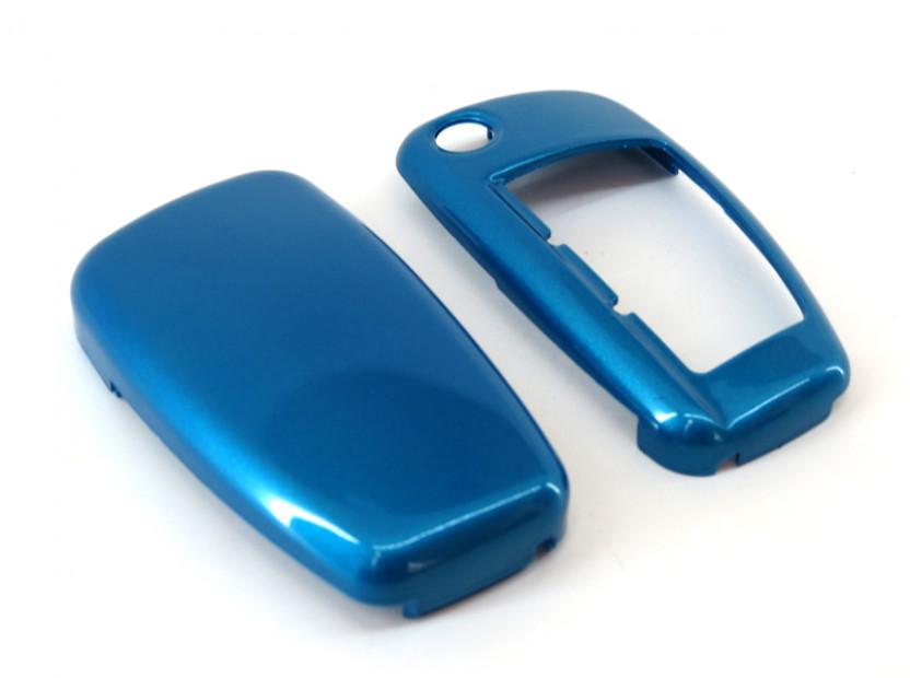 Син пластмасов калъф за ключ за Audi 5