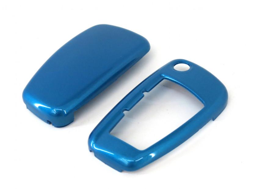 Син пластмасов калъф за ключ за Audi 4