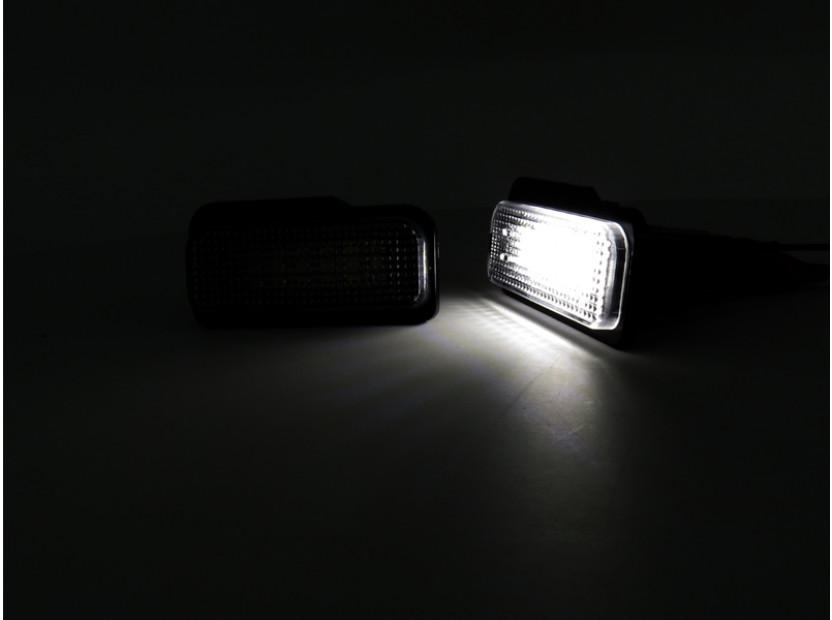Комплект LED плафони за регистрационен номер за Mercedes C класа W203 комби, E класа W211 седан/комби, CLS C219, SLK R171, ляв и десен 6