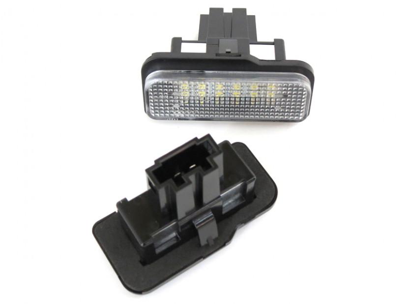 Комплект LED плафони за регистрационен номер за Mercedes C класа W203 комби, E класа W211 седан/комби, CLS C219, SLK R171, ляв и десен 4