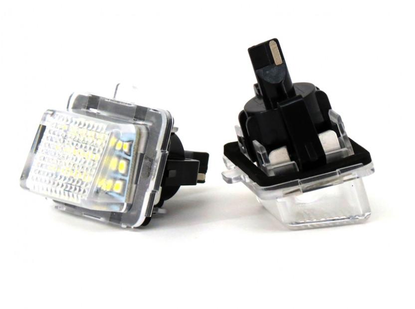 Комплект LED плафони за регистрационен номер за Mercedes C класа W204, E класа W212/C207, CL C216, S класа W221, ляв и десен 2