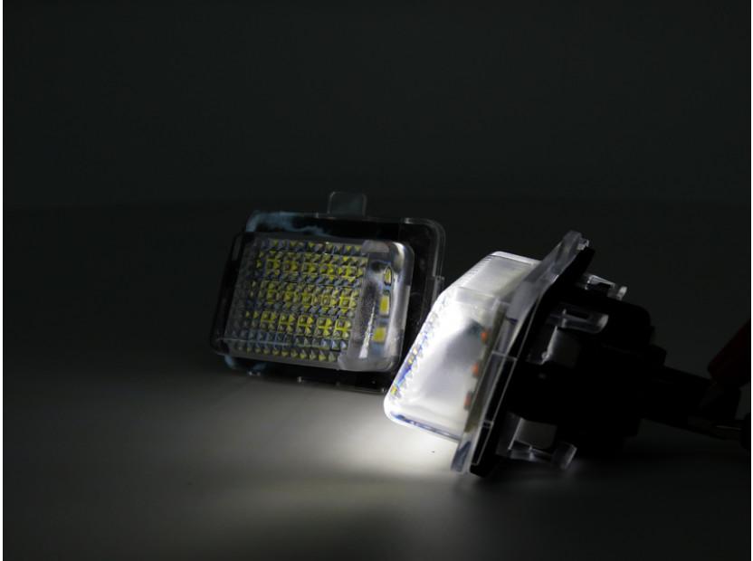 Комплект LED плафони за регистрационен номер за Mercedes C класа W204, E класа W212/C207, CL C216, S класа W221, ляв и десен 7