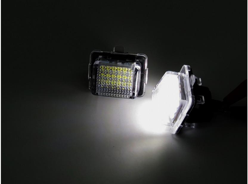 Комплект LED плафони за регистрационен номер за Mercedes C класа W204, E класа W212/C207, CL C216, S класа W221, ляв и десен 6
