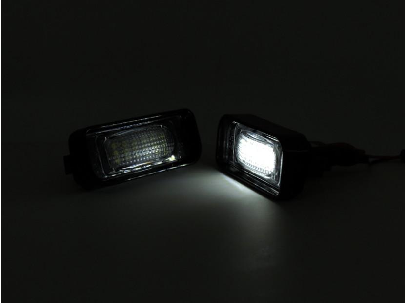 Комплект LED плафони за регистрационен номер за Mercedes S класа W220 1999-2005, ляв и десен 6