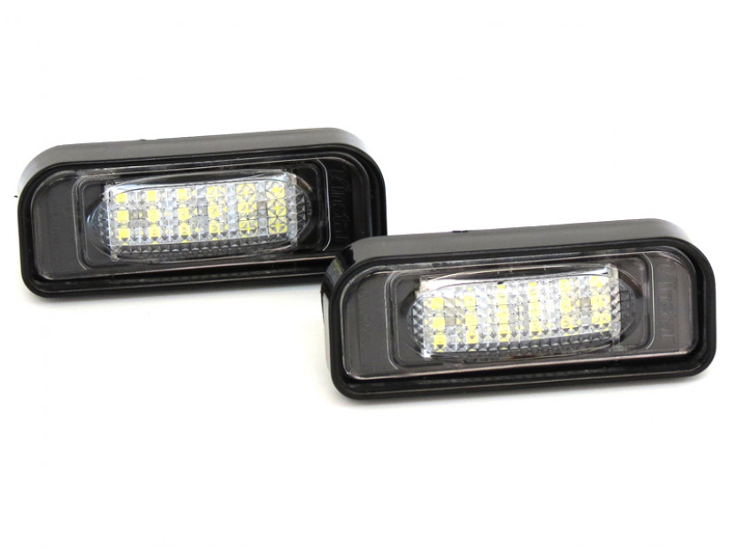 Комплект LED плафони за регистрационен номер за Mercedes S класа W220 1999-2005, ляв и десен