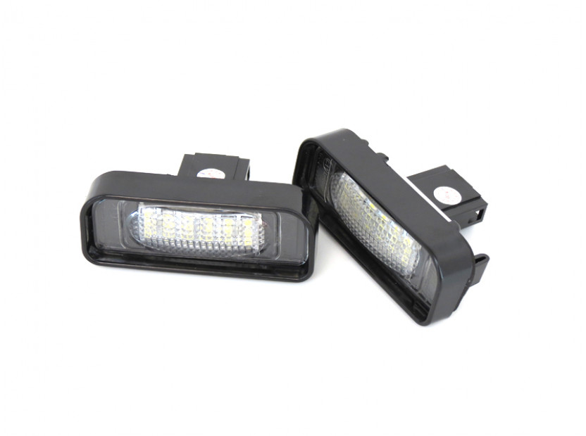 Комплект LED плафони за регистрационен номер за Mercedes S класа W220 1999-2005, ляв и десен 3