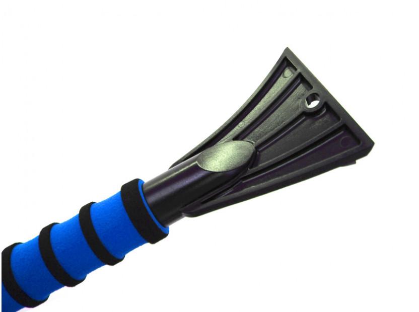 Стъргалка за лед с четка за сняг с мека дръжка Petex 66 см синя 4