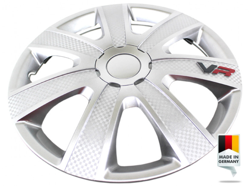 "Декоративни тасове PETEX 14"" VR silver, 4 броя 2"
