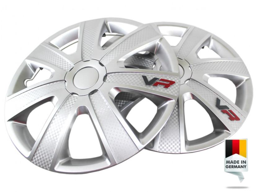 "Декоративни тасове PETEX 15"" VR silver, 4 броя 6"
