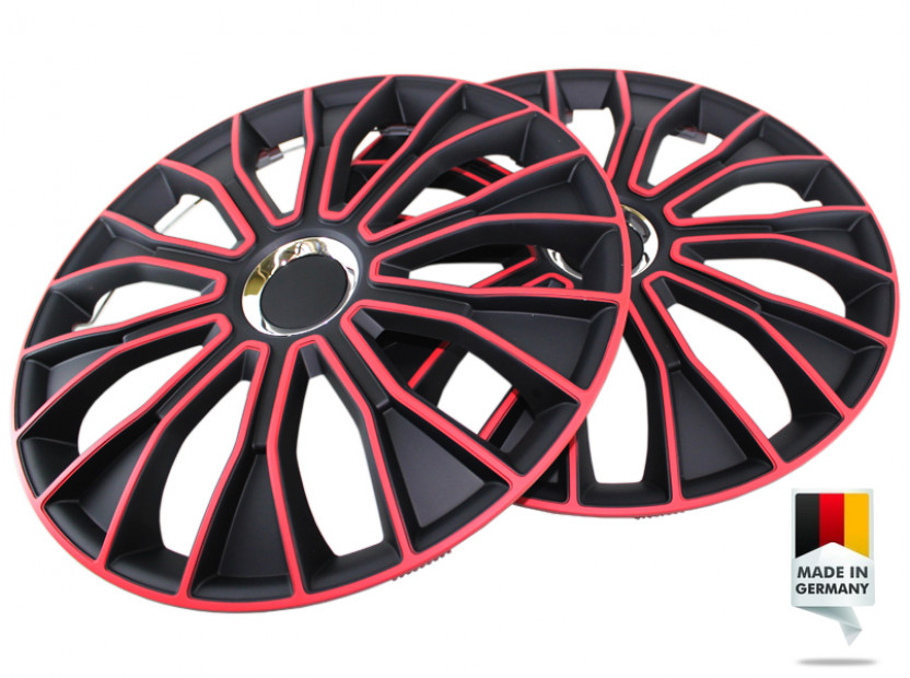 "Декоративни тасове PETEX 14"" Voltec pro black/red, 4 броя 5"