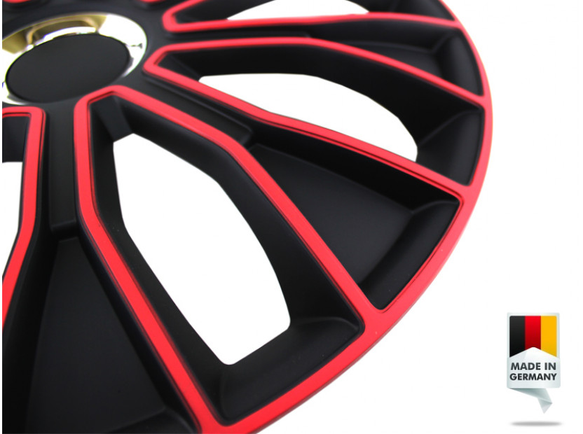 "Декоративни тасове PETEX 16"" Voltec pro black/red, 4 броя 7"